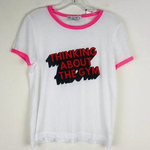 NWT Wildfox Thinking About The Gym Ringer Tee S